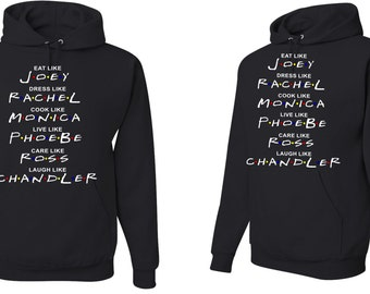 "Adults unisex Hood sweatshirt with ""Friends"" design"