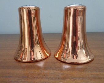 Salt and Pepper Shaker Coppercraft, Vintage Coppercraft, Kitchen Decor, Table Decor