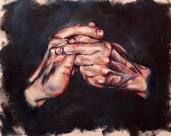 Hands Oil Painting