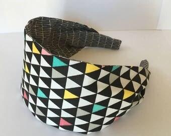 Geometric Headband, Headband For Women, Adult Headbands, Fabric Headbands, Wide Headband, Children's Headbands, Teen Girl Headband