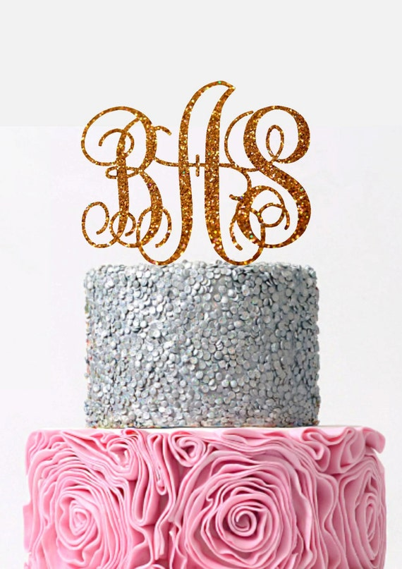 wedding cake topper monogram initials initial wedding cake topper monogram cake topper custom 8808