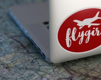 Flygirl Sticker (Aviation, Women, Pilot)