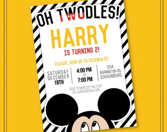 30% OFF SALE Mickey Mouse Invitation - Mickey Mouse Clubhouse Invitation - Mickey Mouse Invitation - Mickey Invitation - Printable