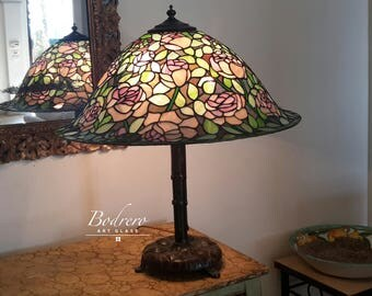 Tiffany Lamp Roses Reproduction