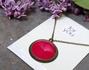 Chain, bright pink