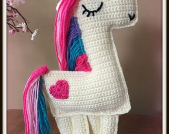 Crochet Unicorn Ragdoll Unicorn Rag Doll Unicorn