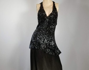 1920s Sequin and Silk Dress