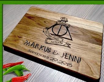 Wedding Gift Cutting Board / Wedding Gift Anniversary Gift / harry potter wedding gift / Harry Potter wedding / Harry Potter cutting board