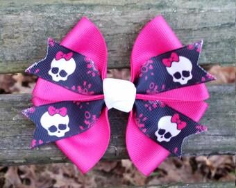Monster High Skull Hair Bow (4 inch)
