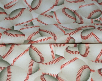 Baseball Fabric, Sports Fabric, Fabric by the yard, Fat Quarter, Quilting Fabric, Apparel Fabric, 100% Cotton Fabric, T-2
