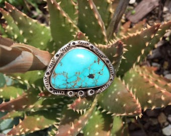 Vintage Navajo Turquoise  and Silver Ring