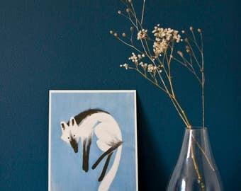 ART PRINT - fox - A5 giclée art print - wolf -  pigment ink - wolf print - art print - cute - nursery - wall art