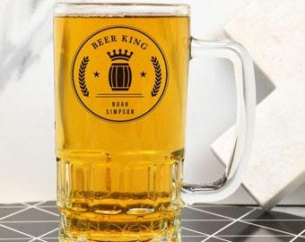 Personalised Beer King Beer Mug