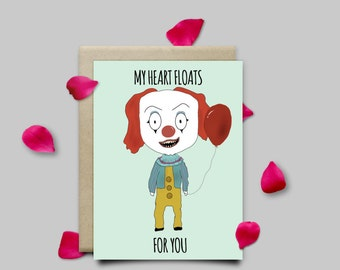 Pennywise IT Horror Valentines Card
