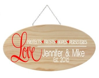 Wood Sign, Family Name, Home Decor, Wedding Sign, Wood Plaque, Personalized Gift