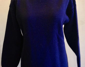 Navy Guernsey Sweater Wool Le Tricoteur