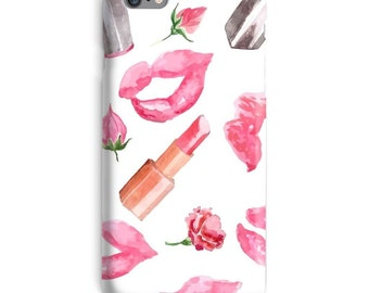 Lips iPhone Case, Lipstick iphone case, Makeup iphone 6 case, Lady iphone 6 case, Beauty iphone 6s case, Cute iphone case