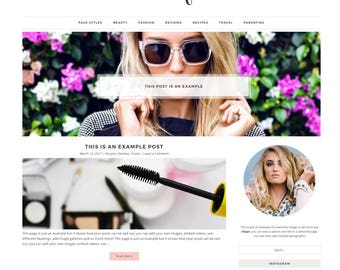 Responsive Wordpress Theme -Ecommerce - Genesis Child Theme - Wordpress Template - Wordpress Blog - Blog Design