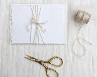 Ivory Silk Twine — 15 yards or 40 yards wooden spool — modern calligraphy wedding invitations