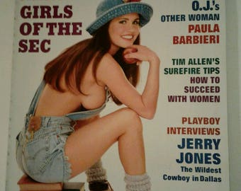 Vintage Playboy magazine October 1994 Girls of the SEC Men's Interest Erotic Nudity Photos Centerfold