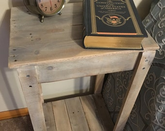 Pallet Side Table (Shipping Included)