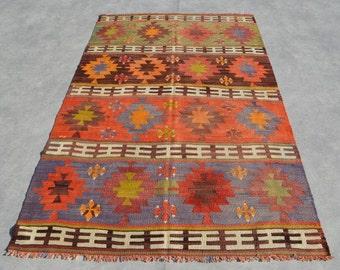 Anatolian Kilim Rug 7'8''x4'8'' Home Decor Anatolian Kilim Area Rug Turkish Rug Bedroom Decor Vintage Kilim rug