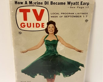 Antique TV Guide Magazine Sep 1-7, 1956 with Alice Lon, Collectible TV Guides