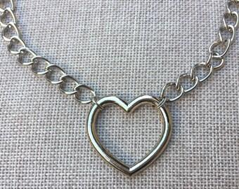 Heart Choker - Stainless steel Choker