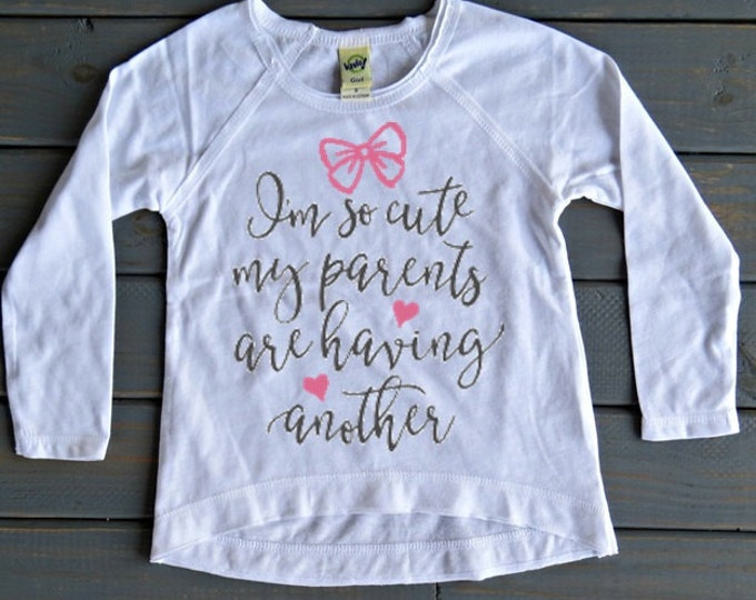 New Baby Announcement, Big Sister Shirt, Pregnancy Announcement, Sibling Shirt, Baby Shower Gift