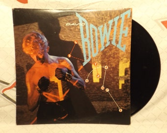 David Bowie Record Let's Dance Vinyl 80s Records 1983 China girl Cat People Vintage Records All Good Records Vinyl Records Sale