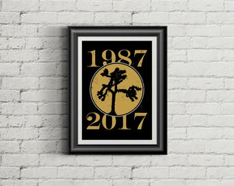 U2 Inspired Poster Print | 11x14 | Celebrating Joshua Tree 30th Anniversary