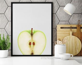 Apple Print, Apple Wall Art, Fruit Print, Fruit Wall Art, Fruit Art, Food Wall Art, Food Print, Photography Art, Printable Art, Kitchen, F01