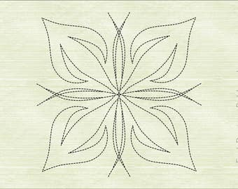 Quilt Block Machine Embroidery Design