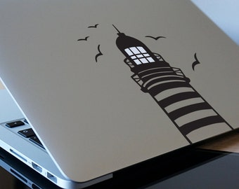 """LIGHTHOUSE MacBook Decal Sticker fits 11"""" 13"""" 15"""" and 17"""" models"""