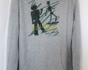 "Grey Hoodie child graphics ""Robots"""