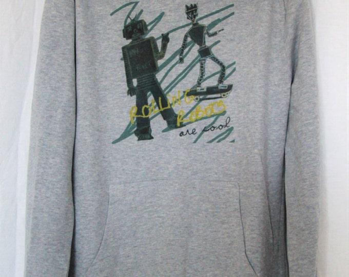 "Gray Hoodie child graphic ""Robots"""