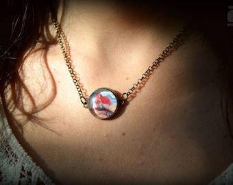 ARIEL-bronze necklace/Choker with Cameo Central