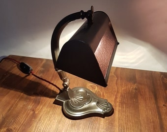 Stunning 1920s art deco desk lamp: rewired