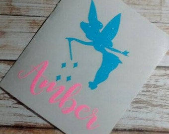 Fairy Decal/Tinkerbell Decal/Vinyl Decal/Decal/Monogram/Girl Decals/Yeti Decal/Fairy Dust Decal/ Fairy Monogram/Fairy Name Decal/HTV Decal