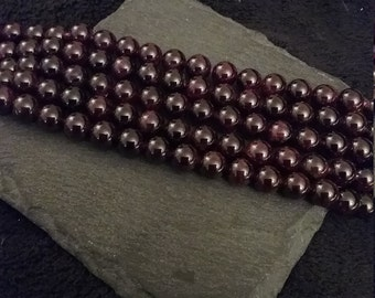 8mm Natural Round Dark Red Garnet Gemstone Beads