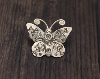 Sterling Silver Butterfly charm,Sterling Silver butterfly pendant,Thai silver butterfly, Butterfly necklace, Butterfly jewelry
