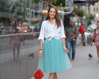Tulle skirt; Adult tutu skirt; Tiffany blue tutu skirt; Carrie tulle skirt; Bridesmaids skirts; Bachlorette skirt; Womens tulle skirt;