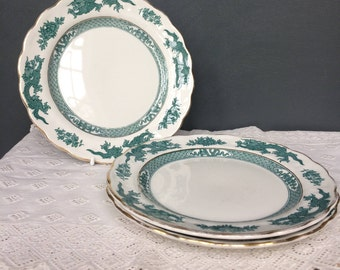 Vintage Booths Green Dragon China Set of Three Side Plates c.1920s