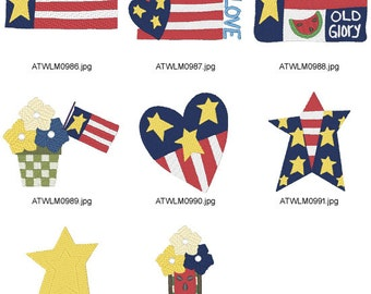 Freedom-Rings. ( 8 Machine Embroidery Designs from ATW )