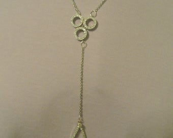 A Very Cute Y Necklace with Faux Diamonds