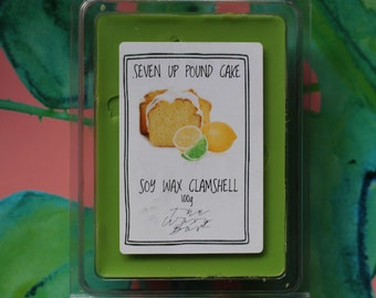 Seven Up Pound Cake - Scented Soy Wax Clamshell Melts - The Waxy Bar