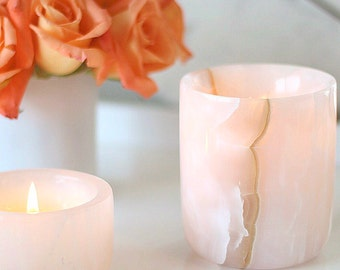 Natural Pink Onyx | Luxury Soy Candle | Small Batch