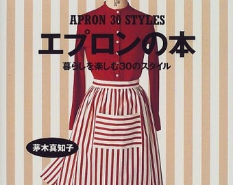 APRON 30 STYLES book Japanese Craft Book  Sewing patterns apron Jumper skirt Smock style