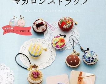 Macaroon Phone Straps Japanese Craft Book Sewing Macaroon strap kit Packing button