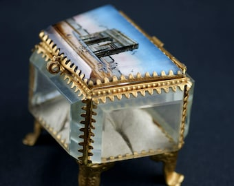 Belle Epoque jewellery box, remember Paris - Circa 1900 / / / Belle Epoque french jewelry box from Paris - Circa 1900